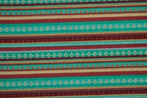 Tecido para Patchwork LA Listrado Turquesa (0,50m x 1,50m)