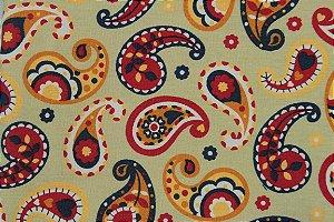 Tecido para Patchwork Marrakesh Paisley fd. Bege (0,50m x 1,50m)
