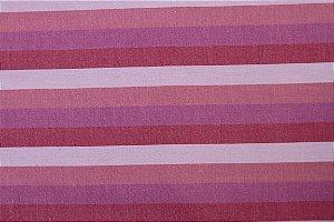 Tecido para Patchwork Fio Tinto Listrado Tons de Rosa (0,50m x 1,40m)