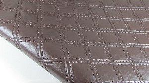 PVC Matelassado Chanel Marrom (0,50m x 1,40m)