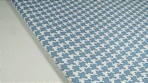 PVC Pied Poule Jeans Claro (0,50m x 1,40m)