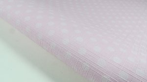 PVC Textura Linho Poá Rosa (0,50m x 1,40m)