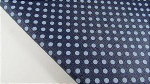 PVC Textura Linho Poá Azul Marinho (0,50m x 1,40m)