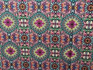 Tecido Digital Mandala Rose (0,50m x 1,50m)