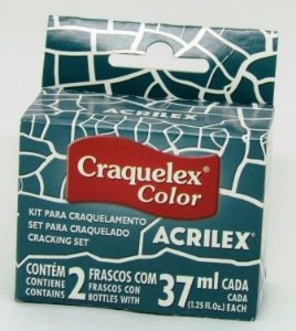 Kit Craquelê Color 37ml Azul Petróleo Acrilex