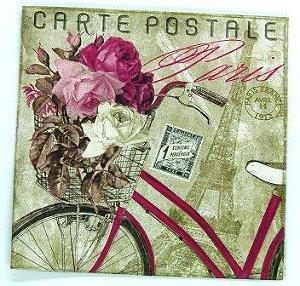 Guardanapo 33cm x 33cm Carte Postale Paris (2 unidades)
