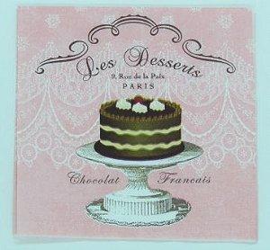 Guardanapo 33cm x 33cm Les Desserts (2 unidades)