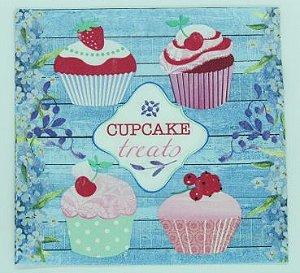 Guardanapo 33cm x 33cm Cupcake Treats (2 unidades)