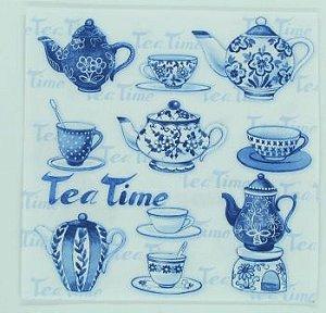 Guardanapo 33cm x 33cm Tea Time Azul (2 unidades)