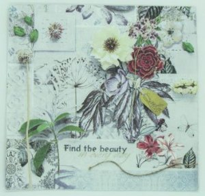 Guardanapo 33cm x 33cm Find The Beauty (2 unidades)