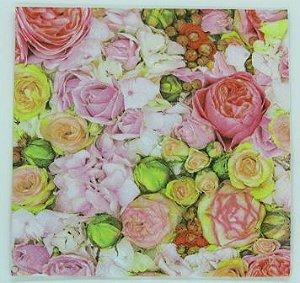 Guardanapo 33cm x 33cm Floral Colorido (2 unidades)