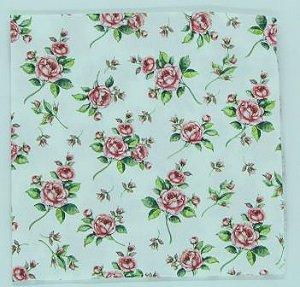 Guardanapo 33cm x 33cm Floral Pequeno fd. Branco (2 unidades)