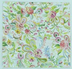 Guardanapo 33cm x 33cm Estampa Floral fd. Creme (2 unidades)