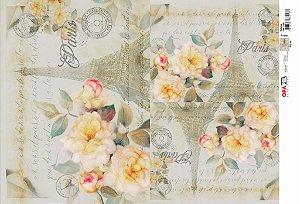 Opapel - Flor Rosa Paris (OPL2524)