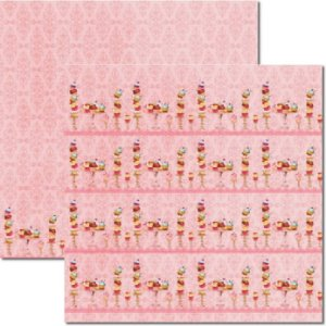Papel Scrap Dupla Face Cupcakes Rosa 1 Arte Fácil