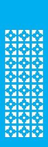 Stencil 10cm x 30cm Estampa Flor Geométrica (OPA1081)