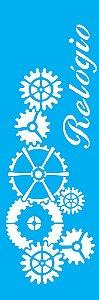 Stencil 10cm x 30cm Relógio (OPA1083)