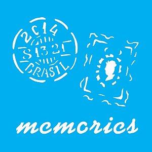 Stencil 14cm x 14cm Memories Selos (OPA1369)