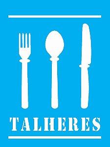 Stencil 15cm x 20cm Talheres (OPA0751)
