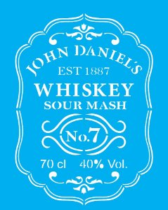 Stencil 20cm x 25cm Whiskey (OPA2085)