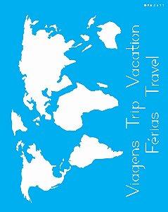 Stencil 20cm x 25cm Mapa (OPA2511)
