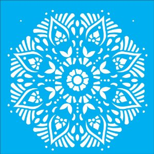 Stencil 30,5cm x 30,5cm Mandala II Camada II (OPA2298)