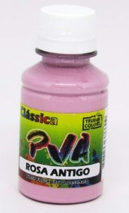 Tinta PVA Fosca 100ml Rosa Antigo True Colors