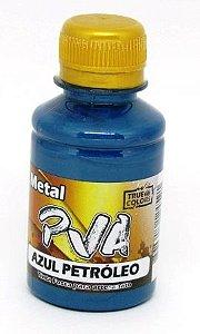 Tinta PVA Metal 100ml Azul Petróleo True Colors