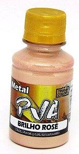 Tinta PVA Metal 100ml Brilho Rosê True Colors