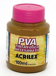 Tinta PVA Fosca 100ml Marrom Acrilex