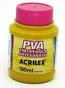 Tinta PVA Fosca 100ml Amarelo Ocre Acrilex