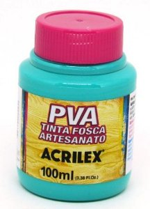 Tinta PVA Fosca 100ml Turquesa Acrilex