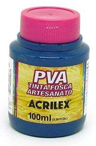 Tinta PVA Fosca 100ml Azul Petróleo Acrilex