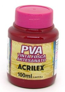 Tinta PVA Fosca 100ml Cereja Acrilex