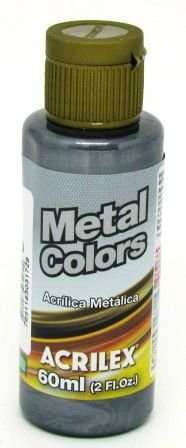Tinta Metal Colors 60ml Preta Acrilex