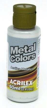 Tinta Metal Colors 60ml Prata Acrilex