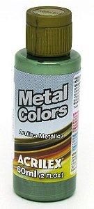 Tinta Metal Colors 60ml Verde Oliva Acrilex