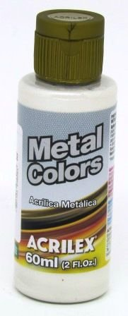 Tinta Metal Colors 60ml Branco Metálico Acrilex