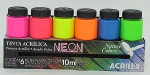 Conjunto Nature Colors Neon Acrilex (6 x 10ml)