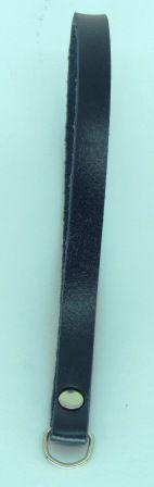Alça de Mão em Couro Azul Marinho (15cm)
