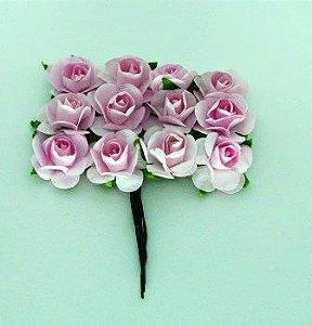 Rosas de Papel 2,30cm Rosa (12 unidades)