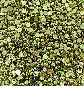 Chaton Dourado Liso 8mm (10 unidades)
