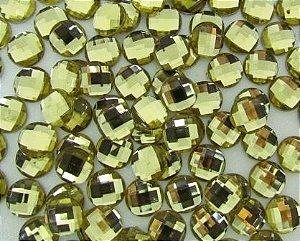 Chaton Sextavado 12mm Dourado (10 unidades)