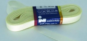 Fita de Gorgurão 10mm Creme (1 metro)
