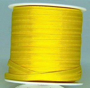 Fita Cetim 4mm Amarelo Ouro (1 metro)