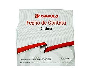 Fecho de Contato Branco 25mm (50cm)