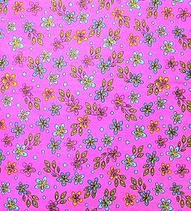 Tecido para Patchwork Rapsody Floral fd. Pink (0,50m x 1,50m)