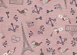 Tecido para Patchwork Paris Mon Amour (0,50m x 1,50m)