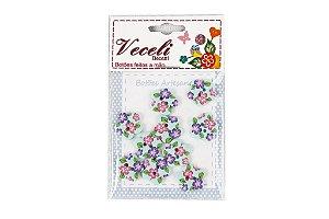 Botões Decorados Flor 13,5mm B22