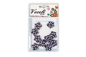Botões Decorados Flor 13,5mm B17